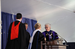 Magda Brown Receives Honorary Doctorate from Aurora University